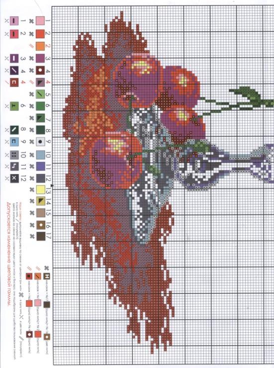 Схемы для вышивки крестом бокалы 29