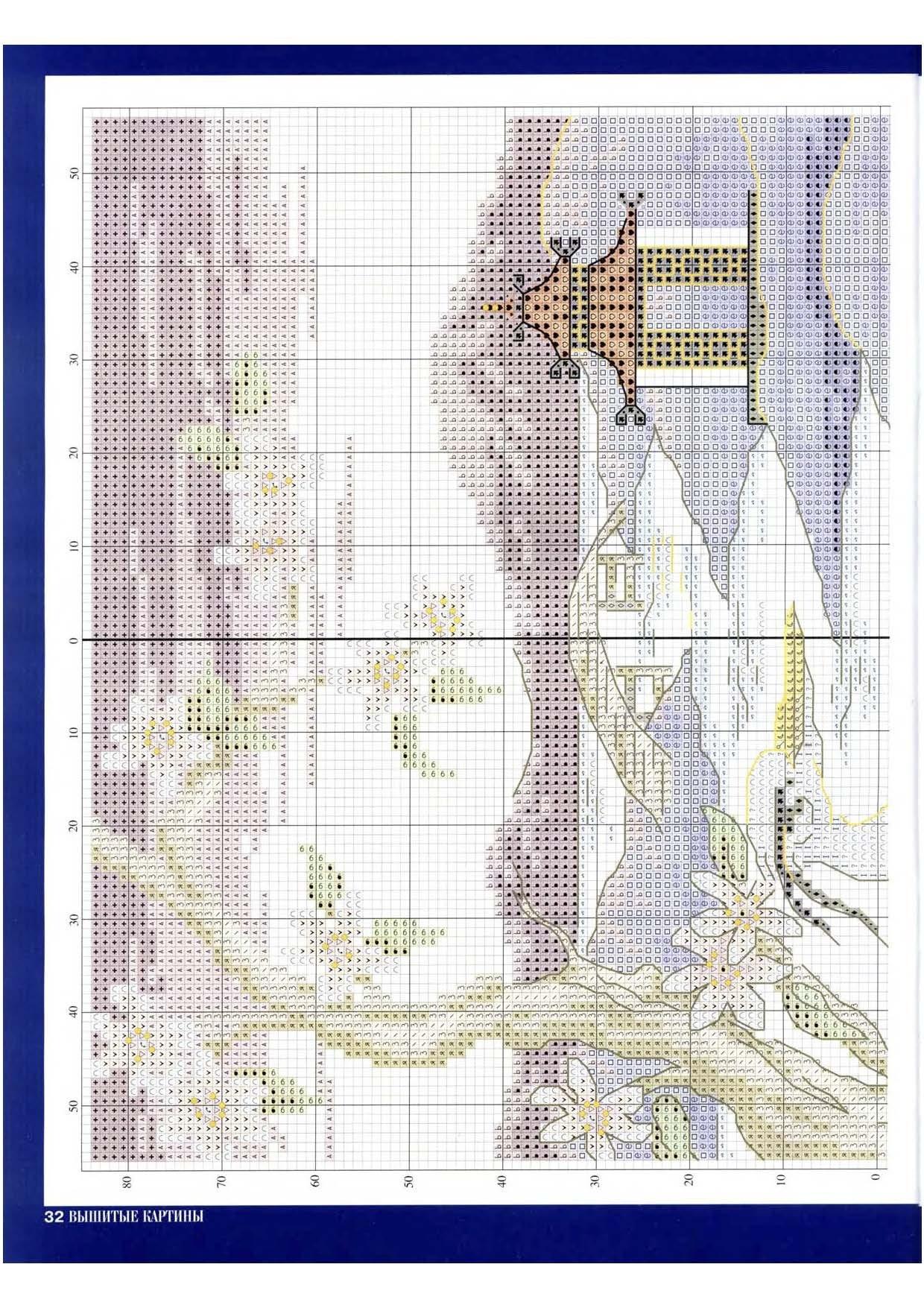 Схема вышивки «Японский мостик» - Схемы автора
