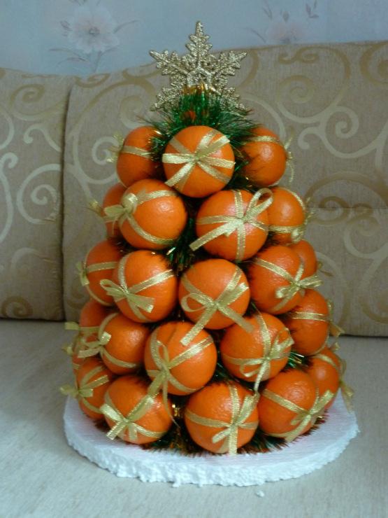 Букет из мандаринов  пошаговое 131