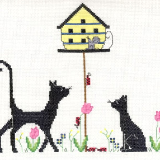 Embroidery cats