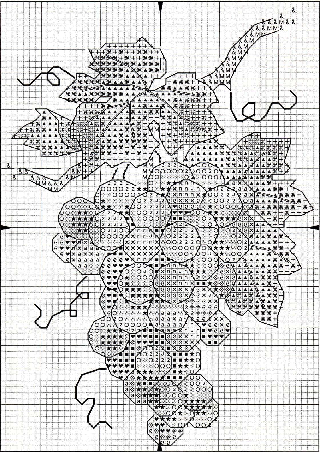Схемы вышивки винограда крестиком 81