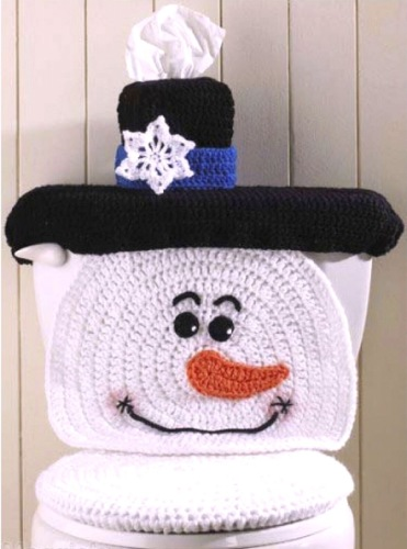 Snowman Toilet Cover Christmas&NY