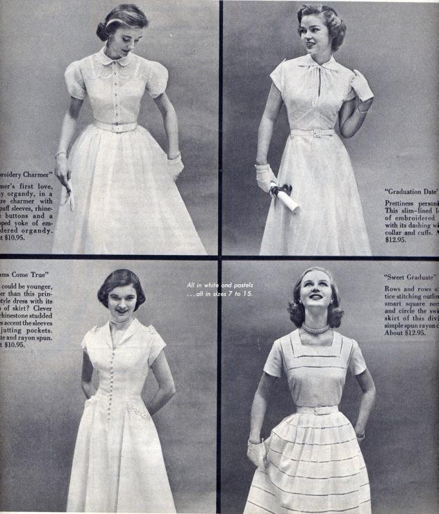 Платья сороковых годов