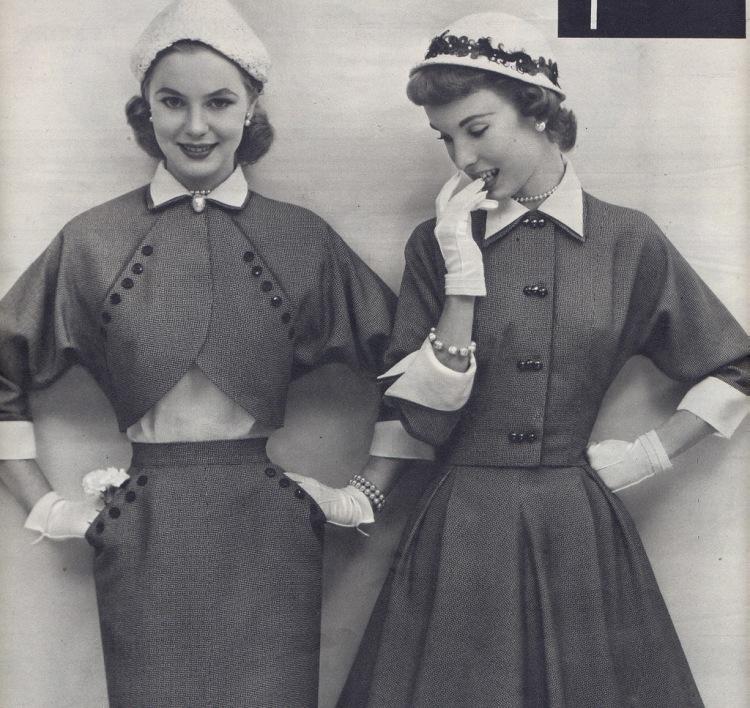 Мода 50-х -это самый женственный силуэт и крой, натуральные ткани